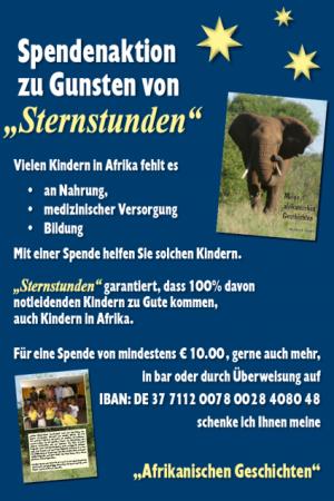 Spendenaktion von Herbert Nagler zu Gunsten von Kindern in Afrika